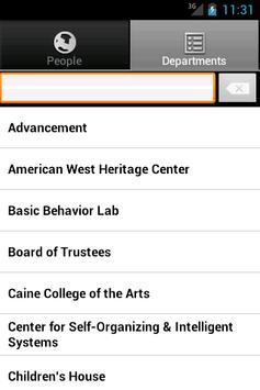 USU Directory screenshot 1