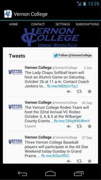 Vernon College poster
