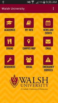 Walsh University App poster
