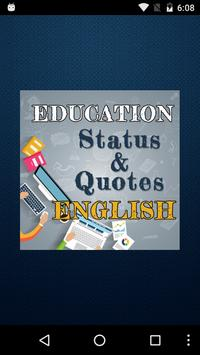 Education Status & Quotes New poster