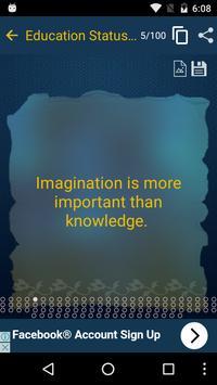 Education Status & Quotes New apk screenshot