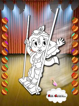 Coloring Book Radha Krishna Fashion Live Color Apk Screenshot