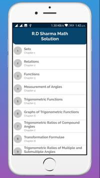 RD Sharma Class 11 Math Solution screenshot 1