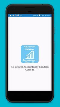 TS Grewal Accountancy Solution Class 11 poster