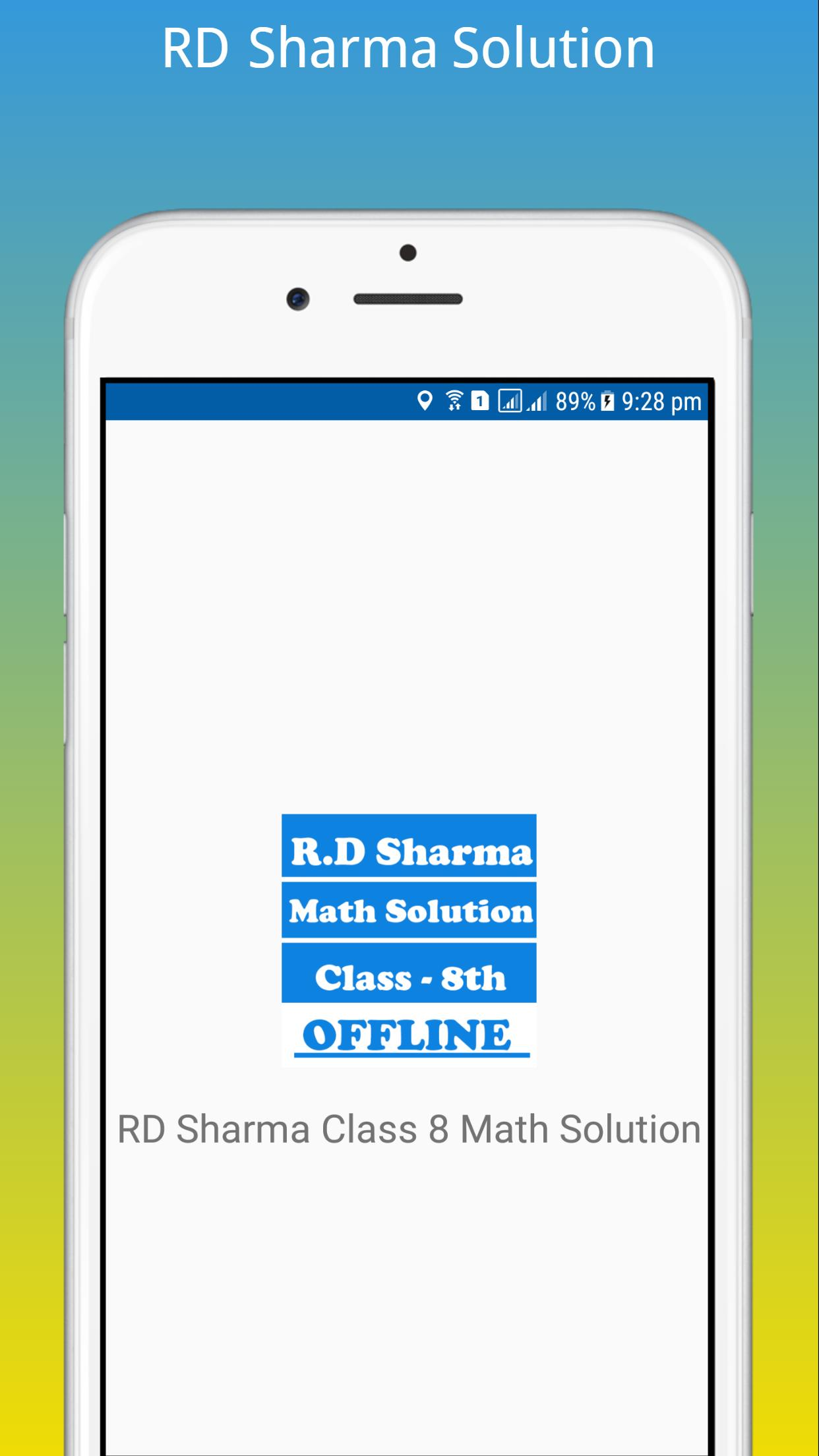 RD Sharma Class 8 Math Solution for Android - APK Download