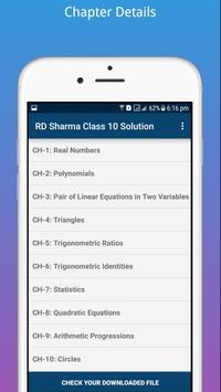RD Sharma Class 10 Math Solution screenshot 1