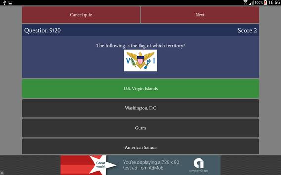 US States Quiz Free apk screenshot