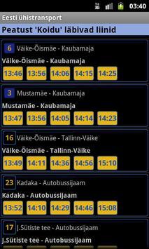 Eesti ühistransport screenshot 2