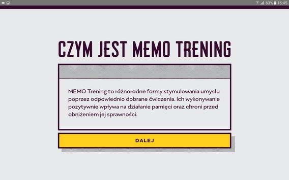 MEMO Trening apk screenshot