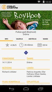Forum Cinemas Latvia apk screenshot