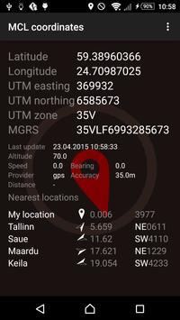 MCL coordinates screenshot 1