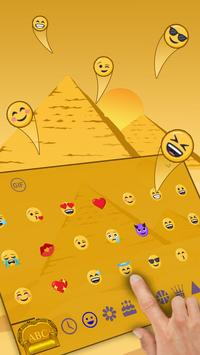 Egyptian Pharaoh Keyboard Theme apk screenshot