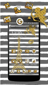 Eiffel Tower Gold Theme poster