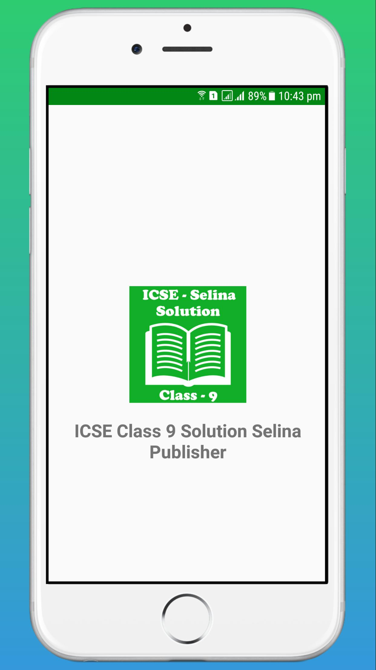 ICSE Class 9 Selina Book Solution for Android - APK Download