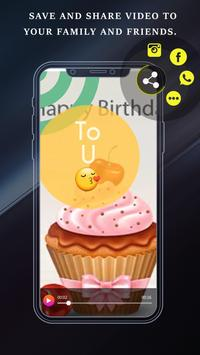 Birthday Full Screen Video Status - जन्मदिन स्टेटस screenshot 3