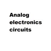 Analog electronics circuits icon