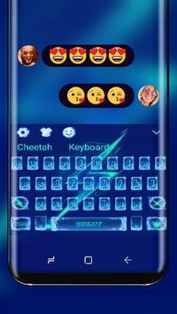 Electro Blue lightning keyboard poster