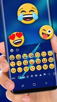 Electro Blue lightning keyboard apk screenshot