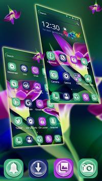 Sparkle Purple Tulip Theme apk screenshot