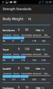 Strength Standards (STRSTD) apk screenshot