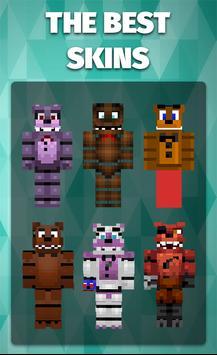 Skins FNAF for Minecraft poster