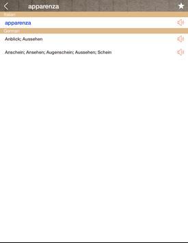German Italian Dictionary & Translator Free apk screenshot