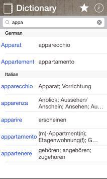 German Italian Dictionary & Translator Free poster