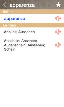 German Italian Dictionary & Translator Free screenshot 1