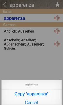 German Italian Dictionary & Translator Free screenshot 2