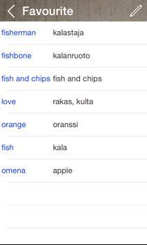 Finnish English Dictionary & Translator Free apk screenshot