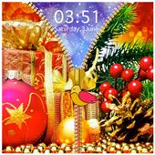 Christmas Zipper Lock Screen icon