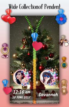 Christmas Zipper Lock Screen apk screenshot