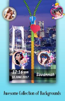 City Night Zipper Lock Screen poster