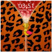 Animal Print Zipper Lock Screen icon