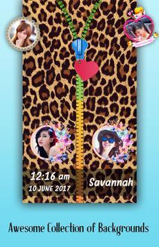Animal Print Zipper Lock Screen poster