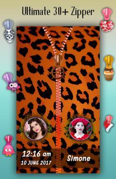 Animal Print Zipper Lock Screen apk screenshot