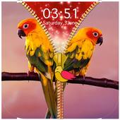 Birds Zipper Lock Screen icon