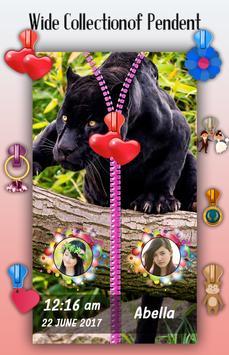 Black Panther Zipper Lock Screen screenshot 4