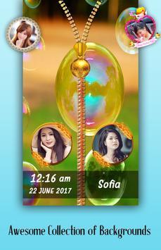 Bubble Zipper Lock Screen poster