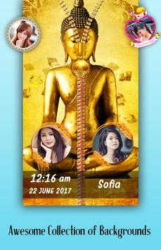 Buddha Zipper Lock Screen poster