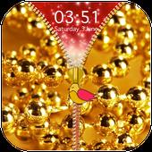 Golden Zipper Lock Screen icon
