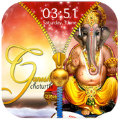 Ganesh Chaturthi Zipper Lock Screen icon