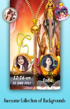 Ganesh Chaturthi Zipper Lock Screen poster