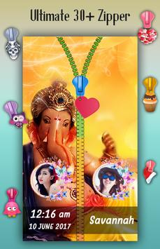 Ganesh Chaturthi Zipper Lock Screen screenshot 3
