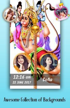 Hanuman Jayanti Zipper Lock Screen poster