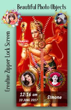 Hanuman Jayanti Zipper Lock Screen apk screenshot