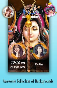 Lord Shiva Zipper Lock Screen poster