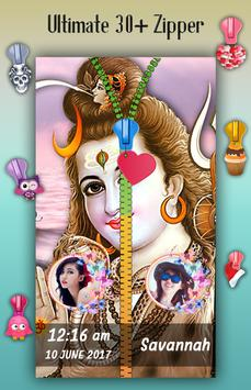 Lord Shiva Zipper Lock Screen screenshot 3