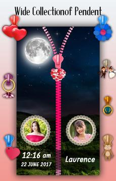 Moon Zipper Lock Screen screenshot 4