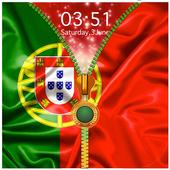 Portugal Flag Zipper Lock Screen icon